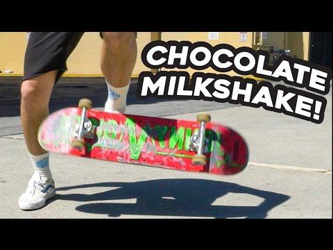 THE CHOCOLATE MILKSHAKE!! *Easy Skateboard Trick for Beginners!*