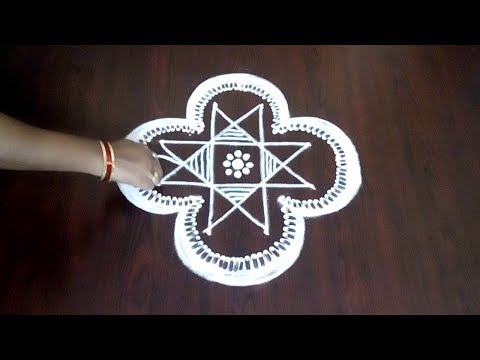 Easy Latest Competitions Rangoli 4 x 2 x 2  || Best Kolam Design || Fashion World & Rangoli