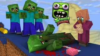 Monster School: ZOMBIE TSUNAMI CHALLENGE PART 2 - Minecraft Animation