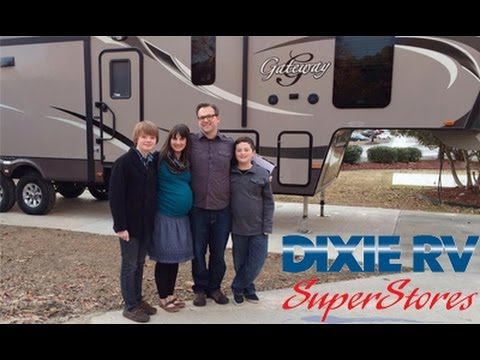 New School Nomads Picking Up Their Gateway Fifth Wheel At Dixie RV In Hammond Louisiana