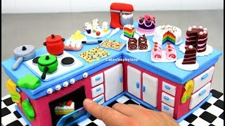 How To Make a KITCHEN CAKE with Miniature Cakes  by CakesStepbyStep