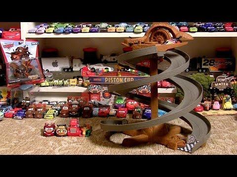 Pixar Cars Dirt Track Raceway 2014 Radiator Springs Classic Side by Side Spiral Rip Clutchgoneski