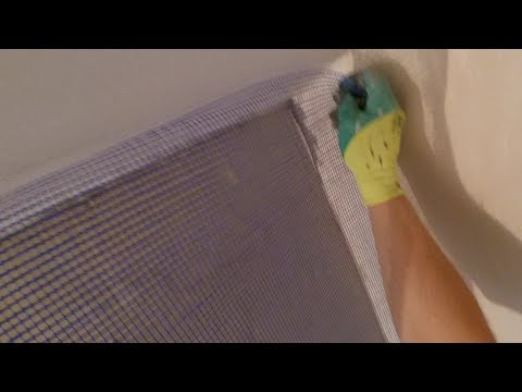 Как правильно клеить армирующую штукатурную Сетку на стены.