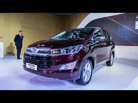 New Toyota Innova Crysta : Auto Expo 2016 : PowerDrift