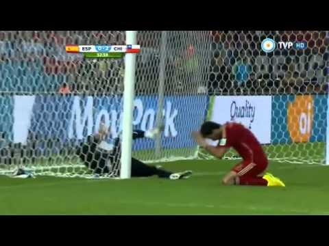 España 0 - Chile 2 Mundial Brasil 2014 - Tv publica