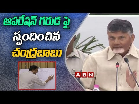 CM Chandrababu Naidu Responds On Operation Garuda | ABN Telugu