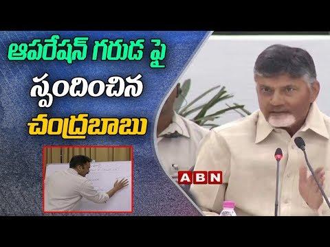 CM Chandrababu Naidu Responds On Operation Garuda | ABN Telugu