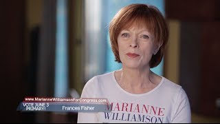 Frances Fisher Endorses Marianne Williamson For Congress