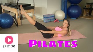 Intermediate Pilates Routine, Mat Routine, Attain Core Strength, Stability + Flexibility