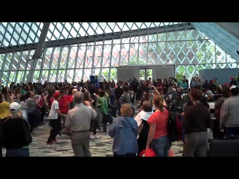 (Official) DANCE This Flash Mob @ Seattle Library Choreographed by Nick & Anna Golla