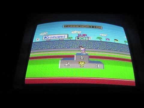 Hyper Sports Arcade Game Review - Konami 1984 - Hyper Olympics