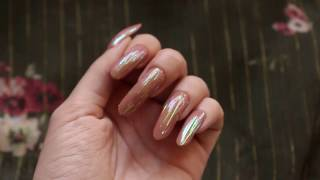 Elegant polished long nails by Blue Rose (video 24)