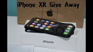 iPhone-XR Unboxing & First Look Black GiveAway!