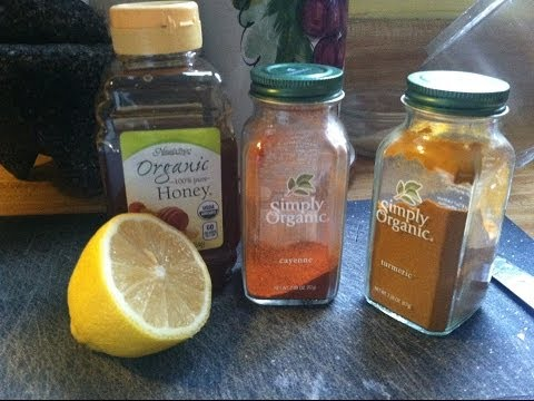 NATURAL Heart Disease, High Blood Pressure Treatment. CAYENNE TURMERIC HONEY LEMON TEA