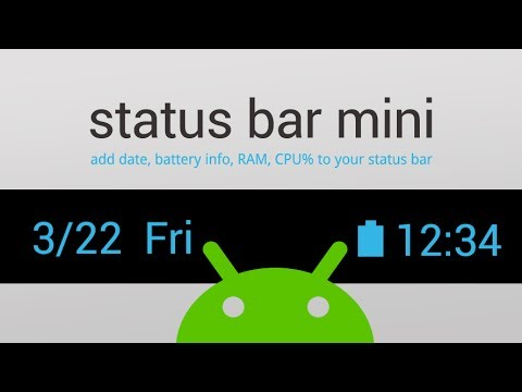 Status Bar Mini PRO APK Cover