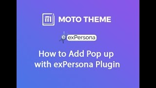 How to Add Pop up with exPersona Plugin