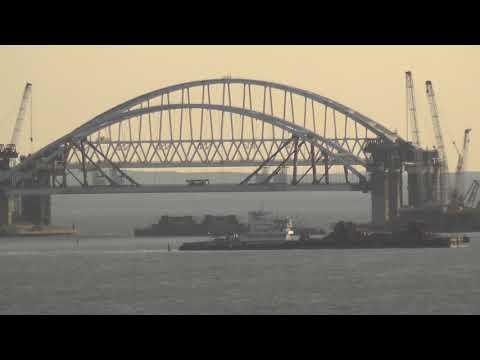 Мост в Крым.Подъем Арки.12окт.2017г