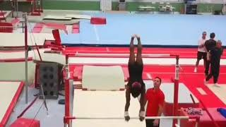 Simone Biles Training Bars In 2019