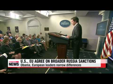 U.S., EU agree to adopt broader Russia sanctions