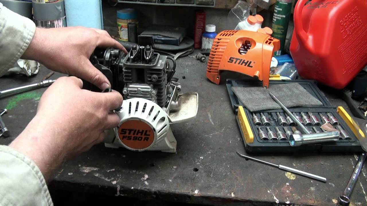 Inspecting The Stihl 4mix 90 Trimmer