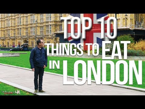 Top 10 Things to Eat in London Best British Food  SAM THE COOKING GUY 4K