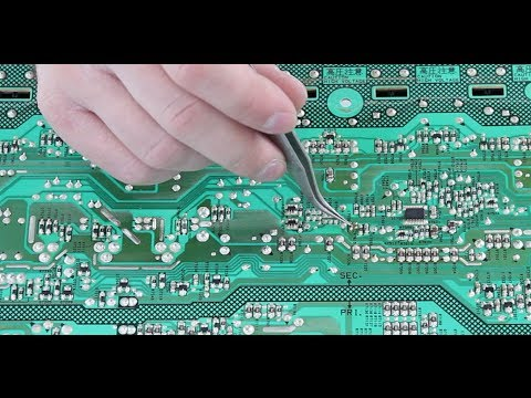 Sharp LC-32 1 Blink TV Repair How to Troubleshoot Problem Betwe