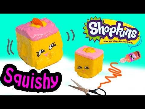 Diy Squishy Cake : DIY Rare Shopkins Season 2 Carrie Carrot Cake SQUISHY TOY Craft Make & Do It Your Self How To ...