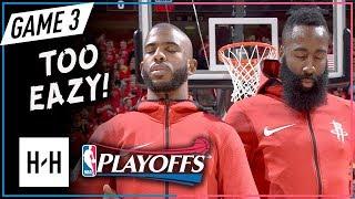 James Harden & Chris Paul Full Game 3 Highlights Rockets vs Jazz 2018 NBA Playoffs WCSF - TOO EAZY!