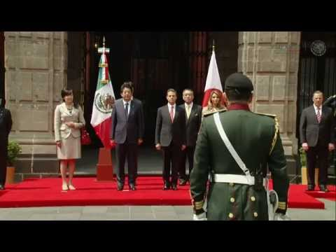 Visita Oficial del señor Shinzo Abe, Primer Ministro de Japón: Ceremonia Oficial de Bienvenida