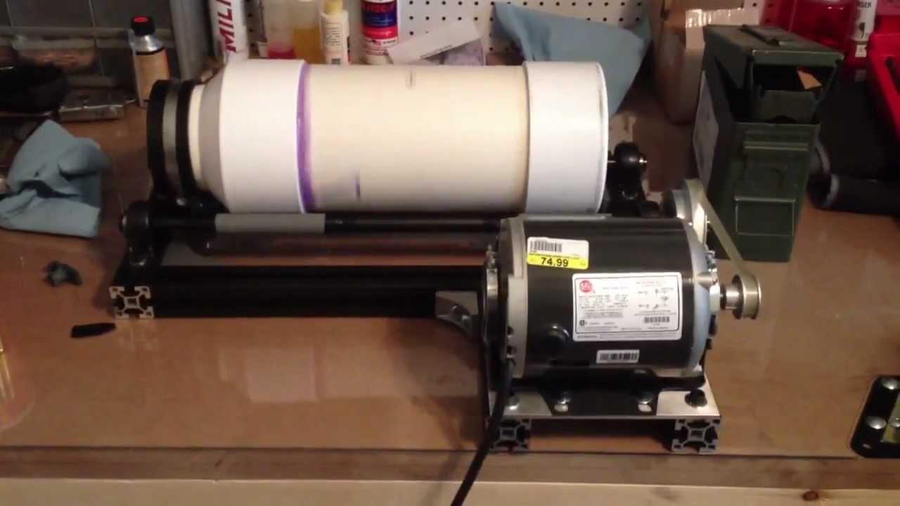 DIY: Wet media tumbler - YouTube