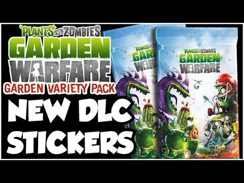 Plants vs. Zombies Garden Warfare - DLC STICKERS!! NEW STUFF!! (Xbox One HD)