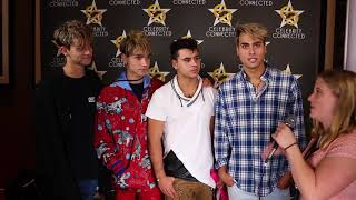 Dobre Brothers Lucas, Marcus, Cyrus, and Darius Interview at Celebrity Connected Suite