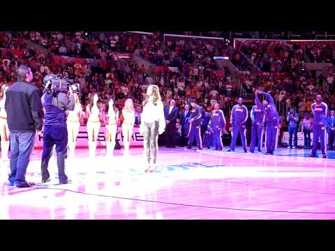 Melody Thornton performs The National Anthem