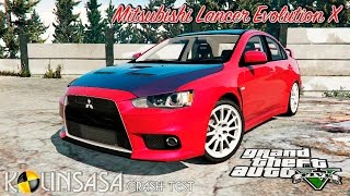 GTA 5 Crash test - Mitsubishi Lancer Evolution X