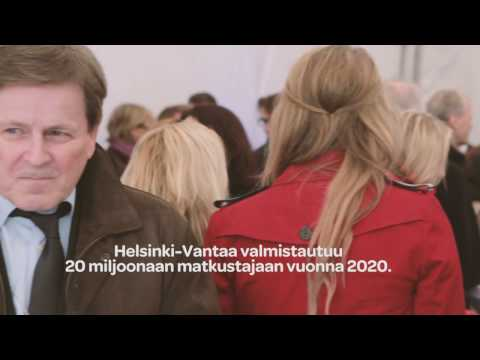 Helsinki-Vantaan laajennuksen peruskiven muuraus