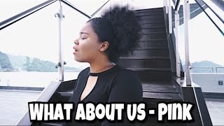 What About Us - Pink // Vanessa Cover