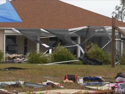 Tornado Strikes Florida; Winter Weather in Ohio