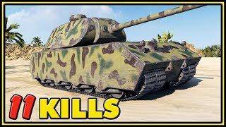 Mäuschen - 11 Kills - 1 VS 5 - World of Tanks Gameplay