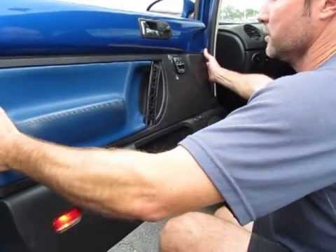 removing   beetle interior door panel youtube