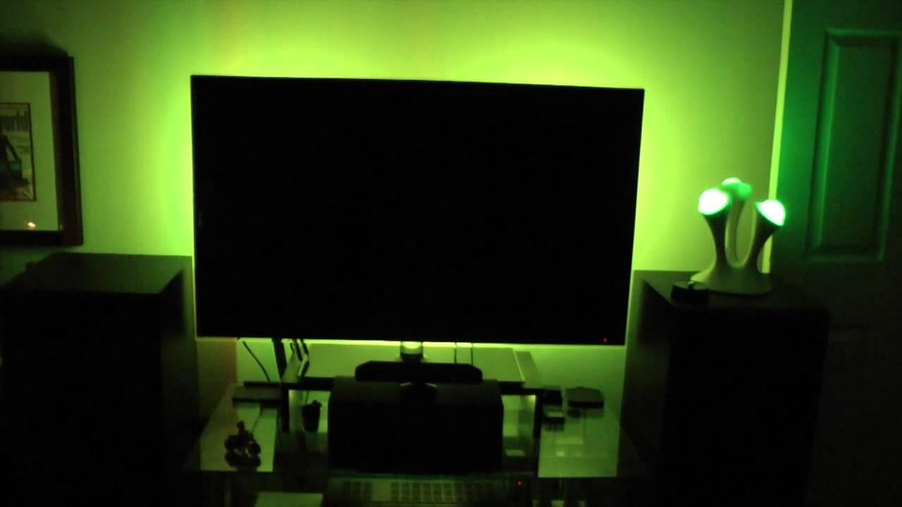 My Tv Accent Lighting Setup Youtube