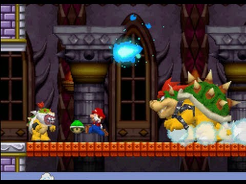 New Super Mario Bros. (DS) 100% Walkthrough - World 8 / Final Boss (All Star Coins & Secret Exits)
