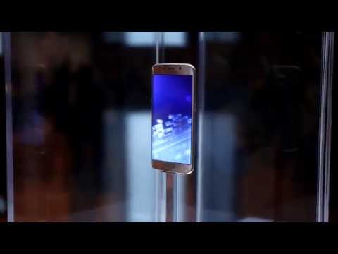 The Samsung Galaxy S6 edge at Mobile World Congress with EE