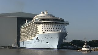 Float out QUANTUM OF THE SEAS at Meyer Werft | Ausdocken