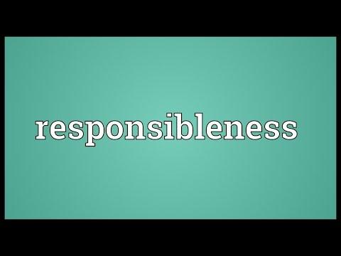 Header of responsibleness