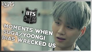 BTS SUGA/YOONGI - MOMENTS WHEN HE BIAS WRECKED US