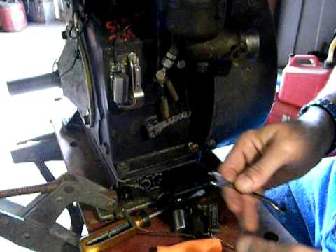 Installing and adjusting points and condenser on Briggs and stratton engines Tutorial