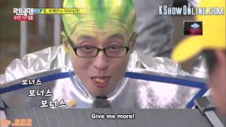 [ENG SUB] Running Man Find Food On Earth Funny Game