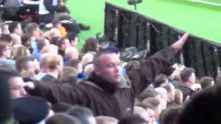 Manchester City Fan abuses United Fans with Aeroplane Gestures at the Derby 02.11.14