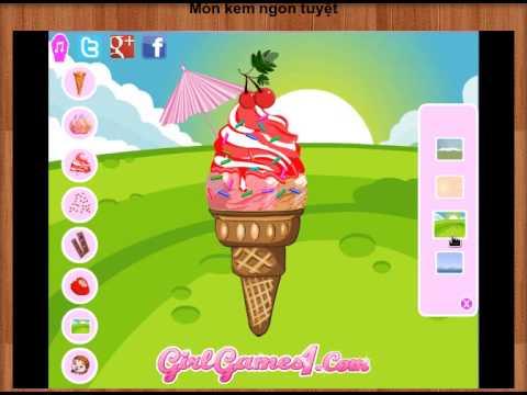 Game | Game nau an Món kem ngon tuyệt | Game nau an Mon kem ngon tuyet