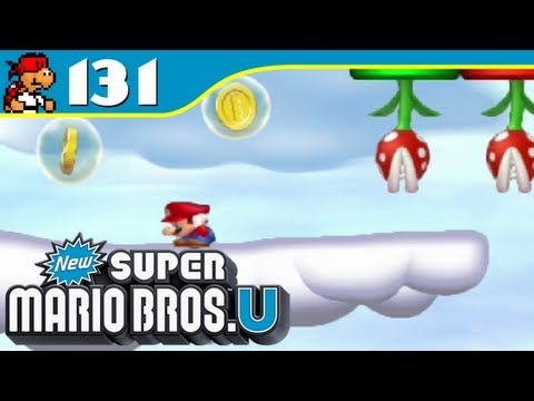 New Super Mario Bros. U - Cloud-Top Coin Evasion - Coin Collection - Episode 131 - KoopaKungFu
